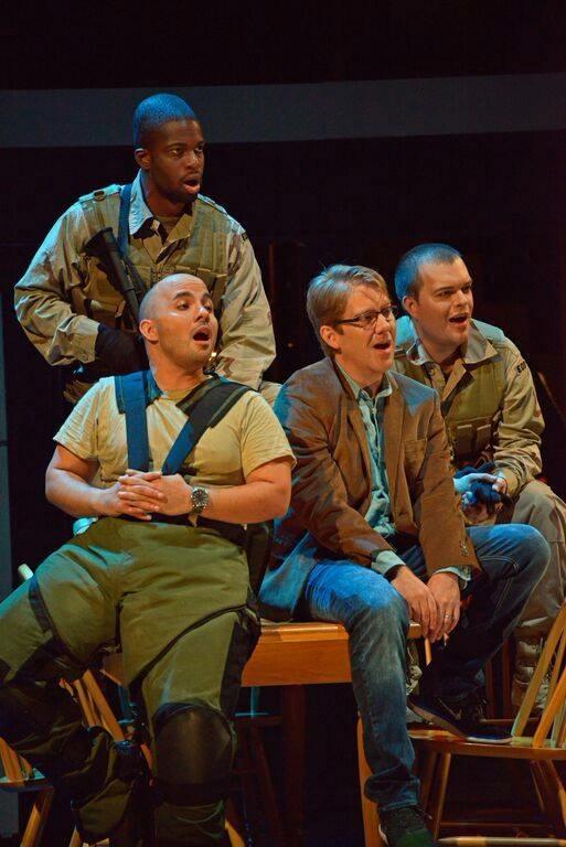 Javier Abreu (Castleman), Daniel Belcher (Brian Castner), David Blalock (Ricky), and Justin Hopkins (Jeff).