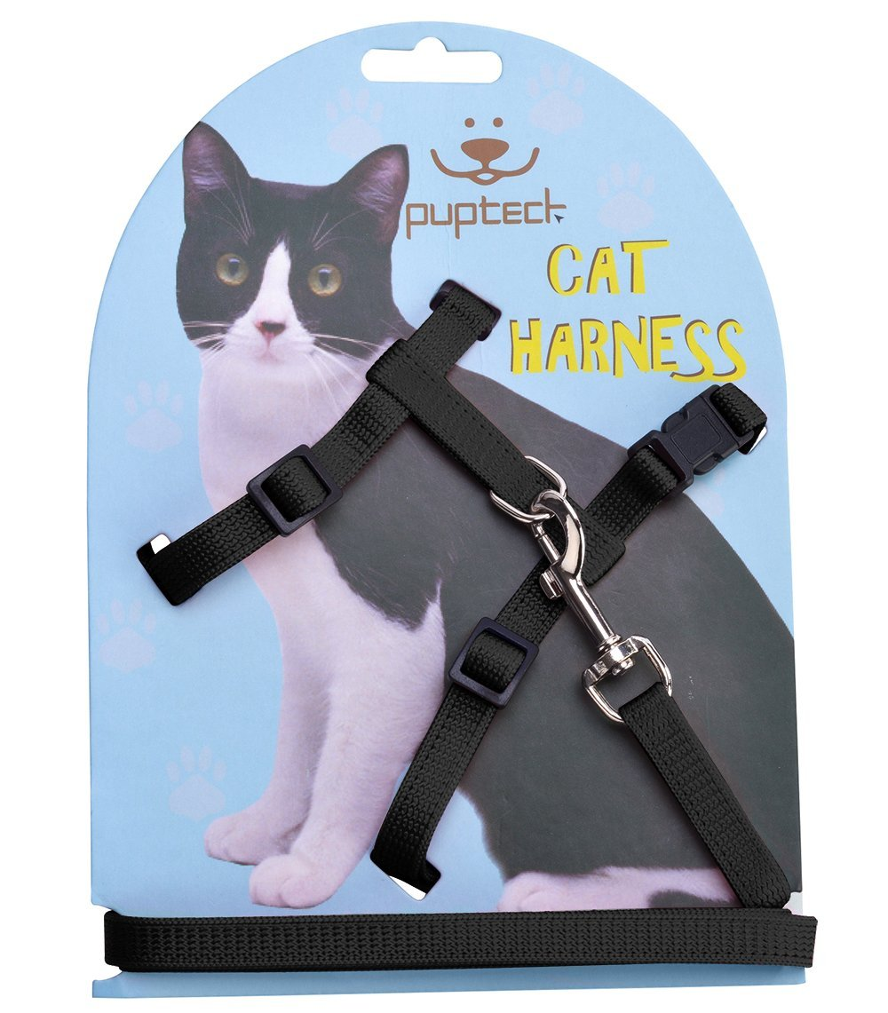 Pupteck Cat Harness - Easy to use but not heavy duty. I would only trust this on a kitten.Buy on Amazon.com