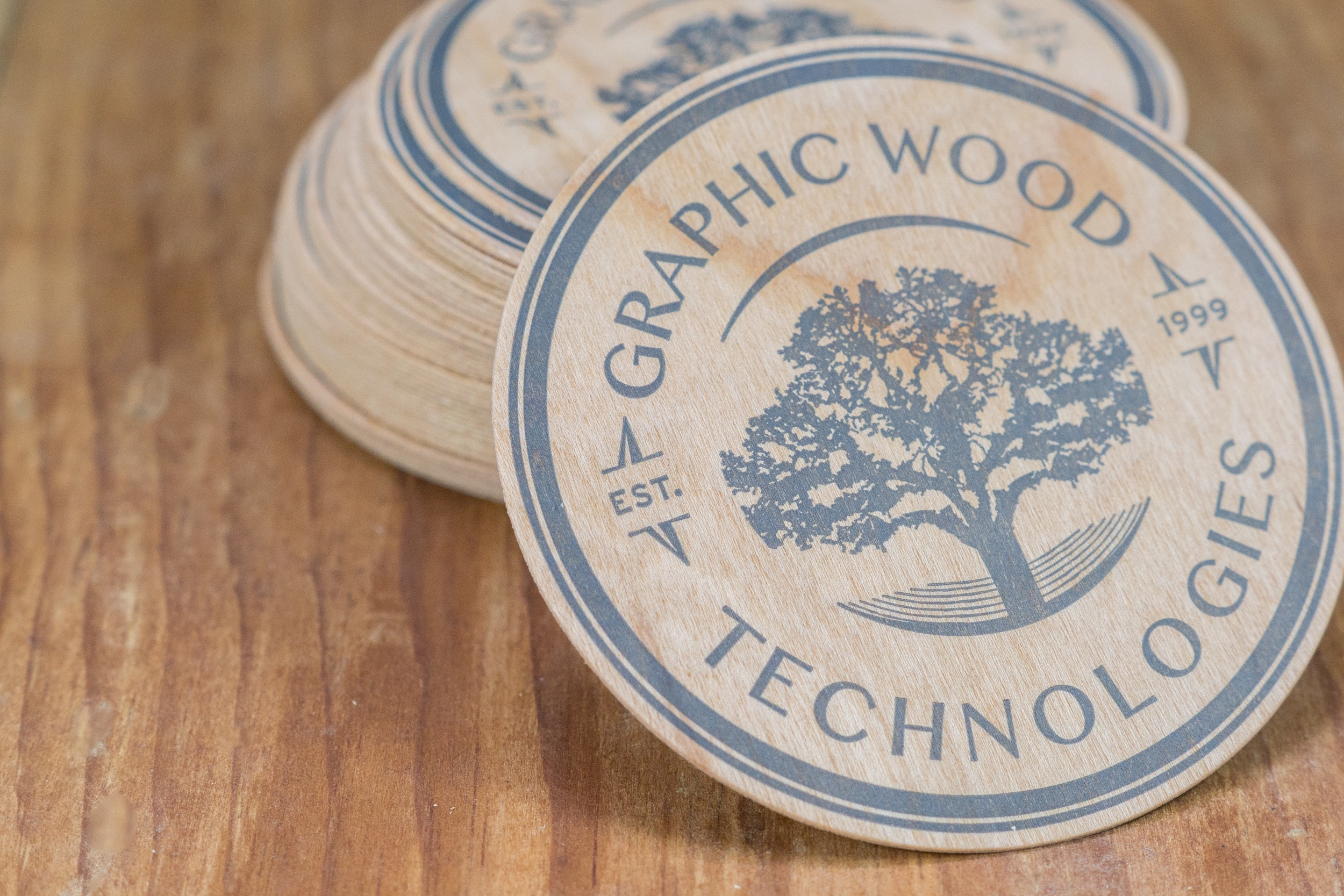 Cherry Wood Coasters