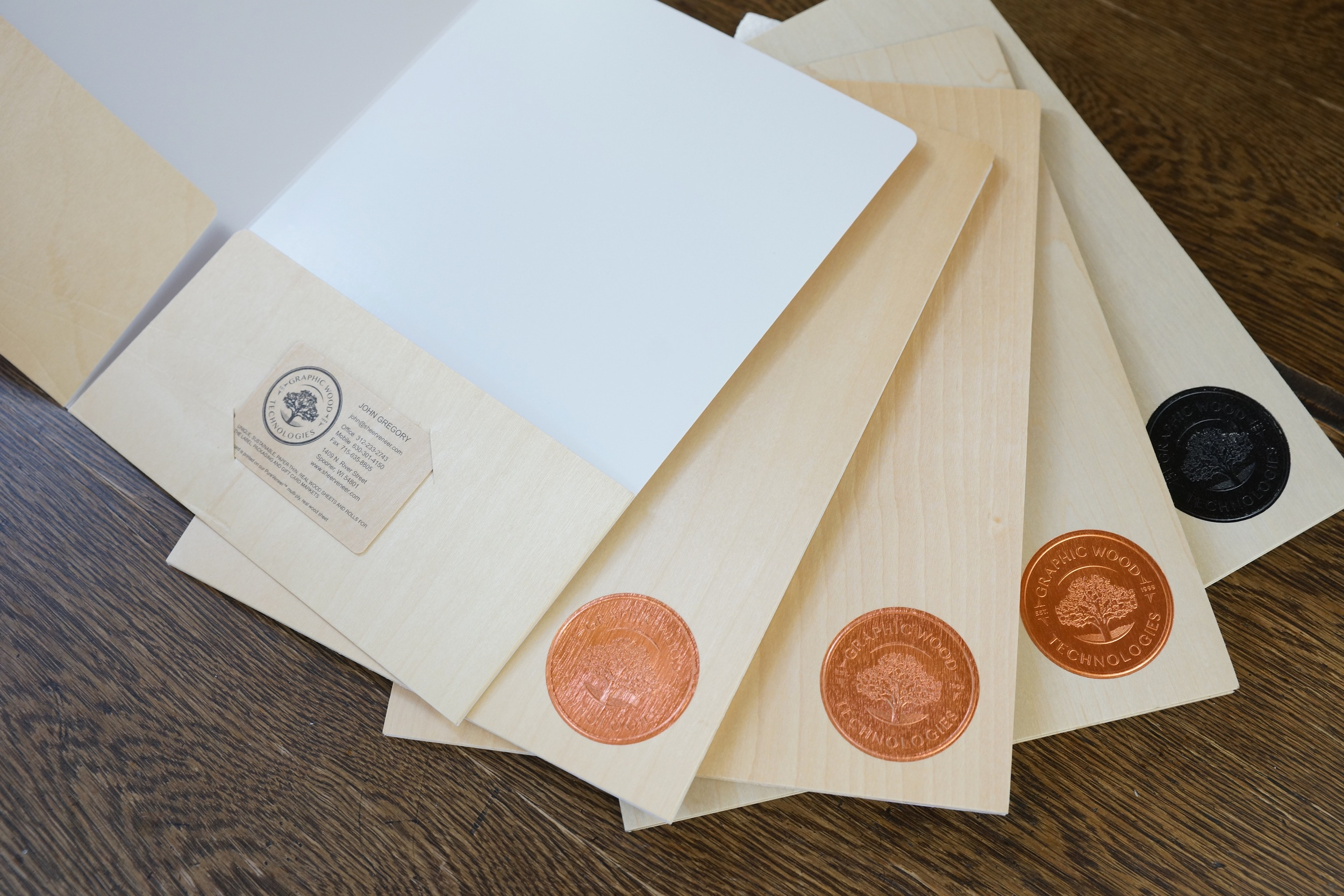 Birch Wood Pocket Folders