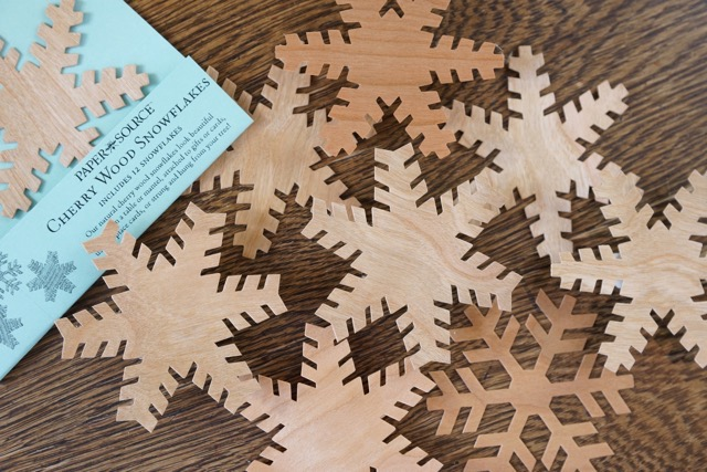 Cherry Wood Paper Source Snowflakes