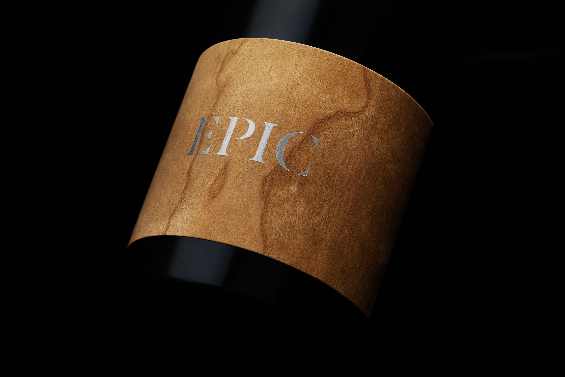 Cherry Wood Epic Wine Label