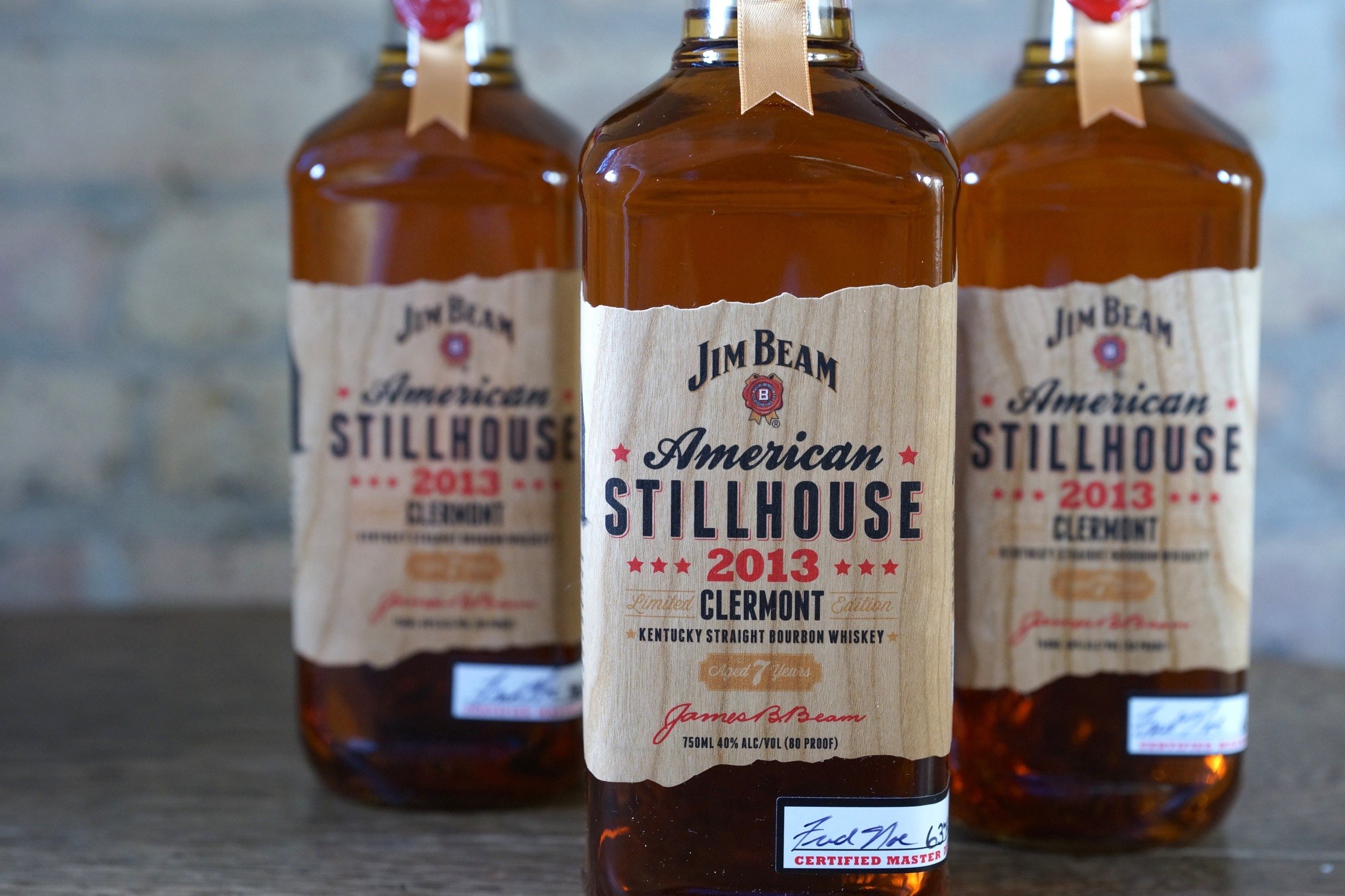 Cherry Wood Jim Beam Stillhouse Label