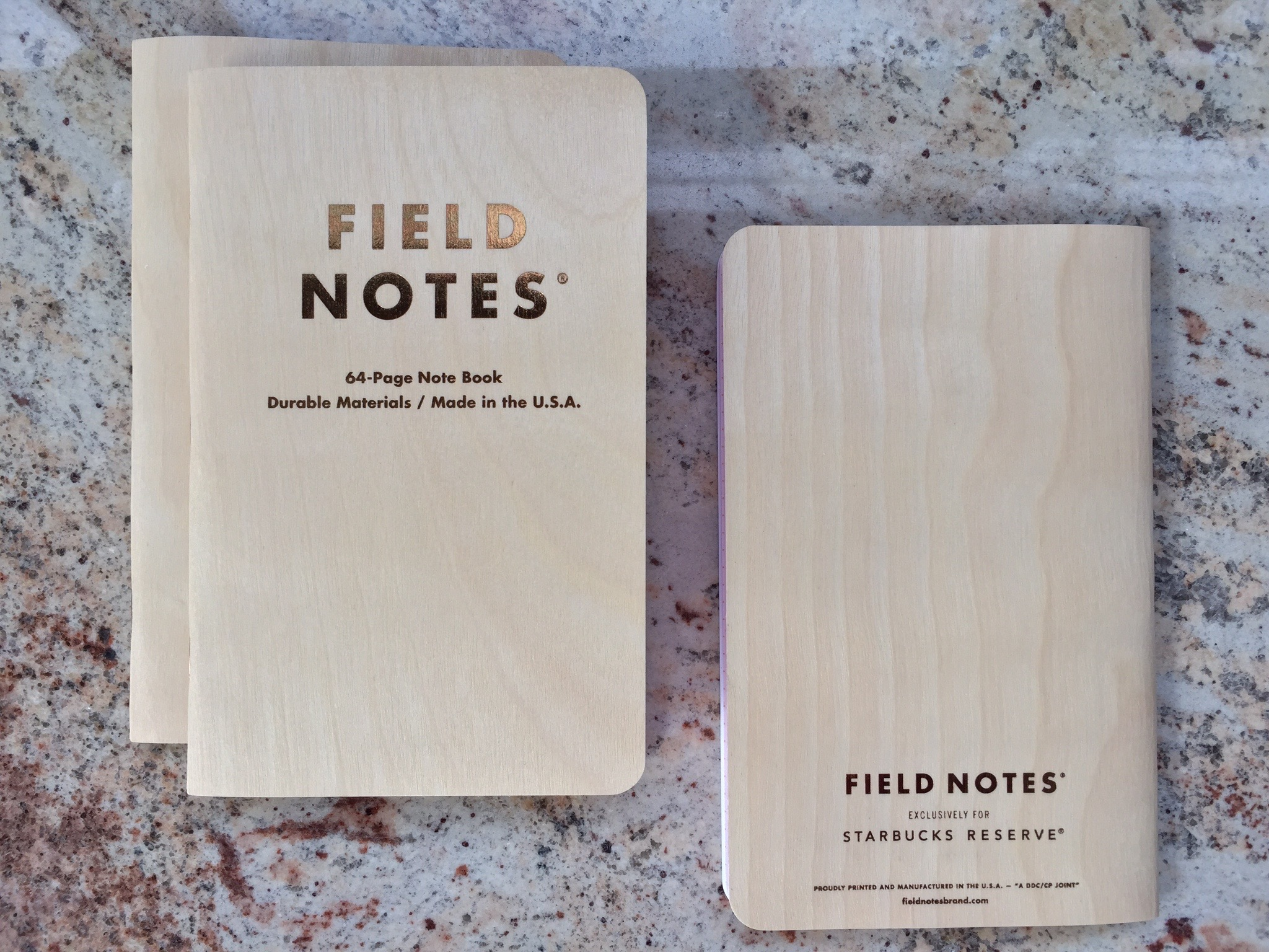 Birch Field Notes Journals for Starbucks