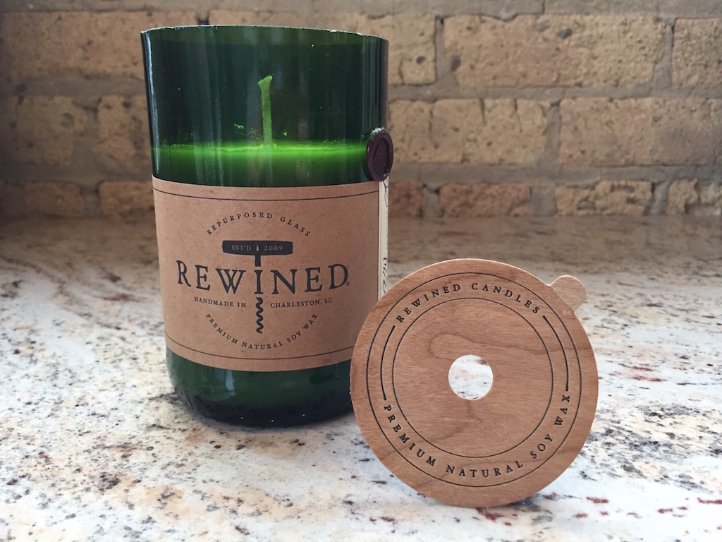 Cherry Wood Rewined Candle Cover