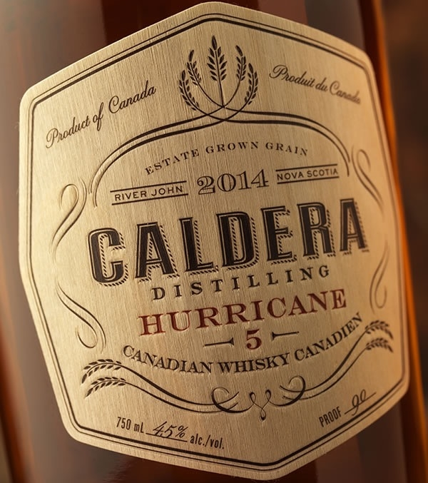 Birch Wood Caldera Whiskey Label