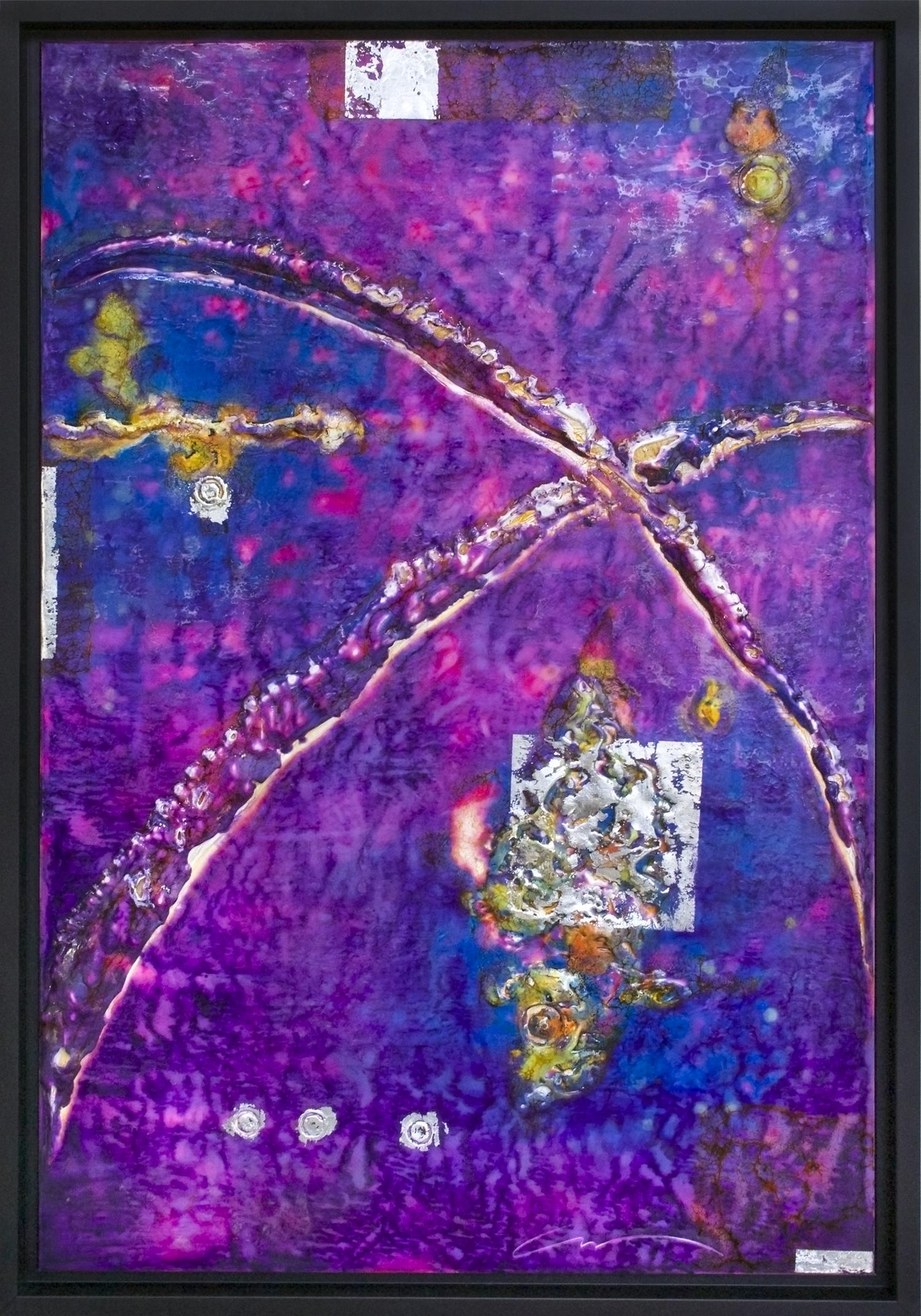 "052614 Purple Abstract 24 x 36"""