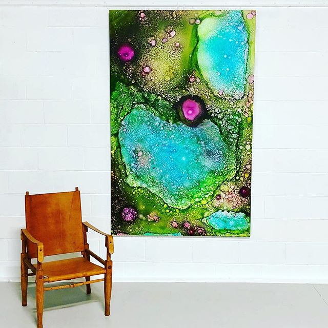 "Revealed gallery in Charleston SC has ""Monet's Garden No. 1"" 48x78 available for sale. I already miss it in my studio."