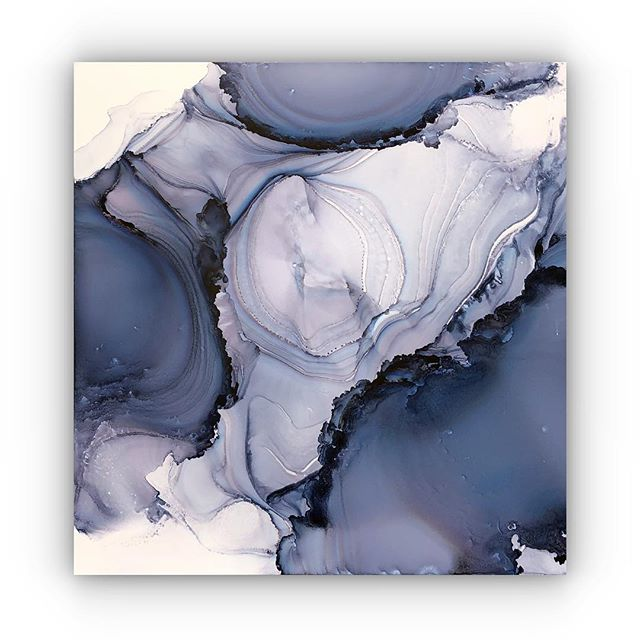 """Blue Geode"" 24x24 I am making a series of these for my up coming show in Charleston SC IN April."