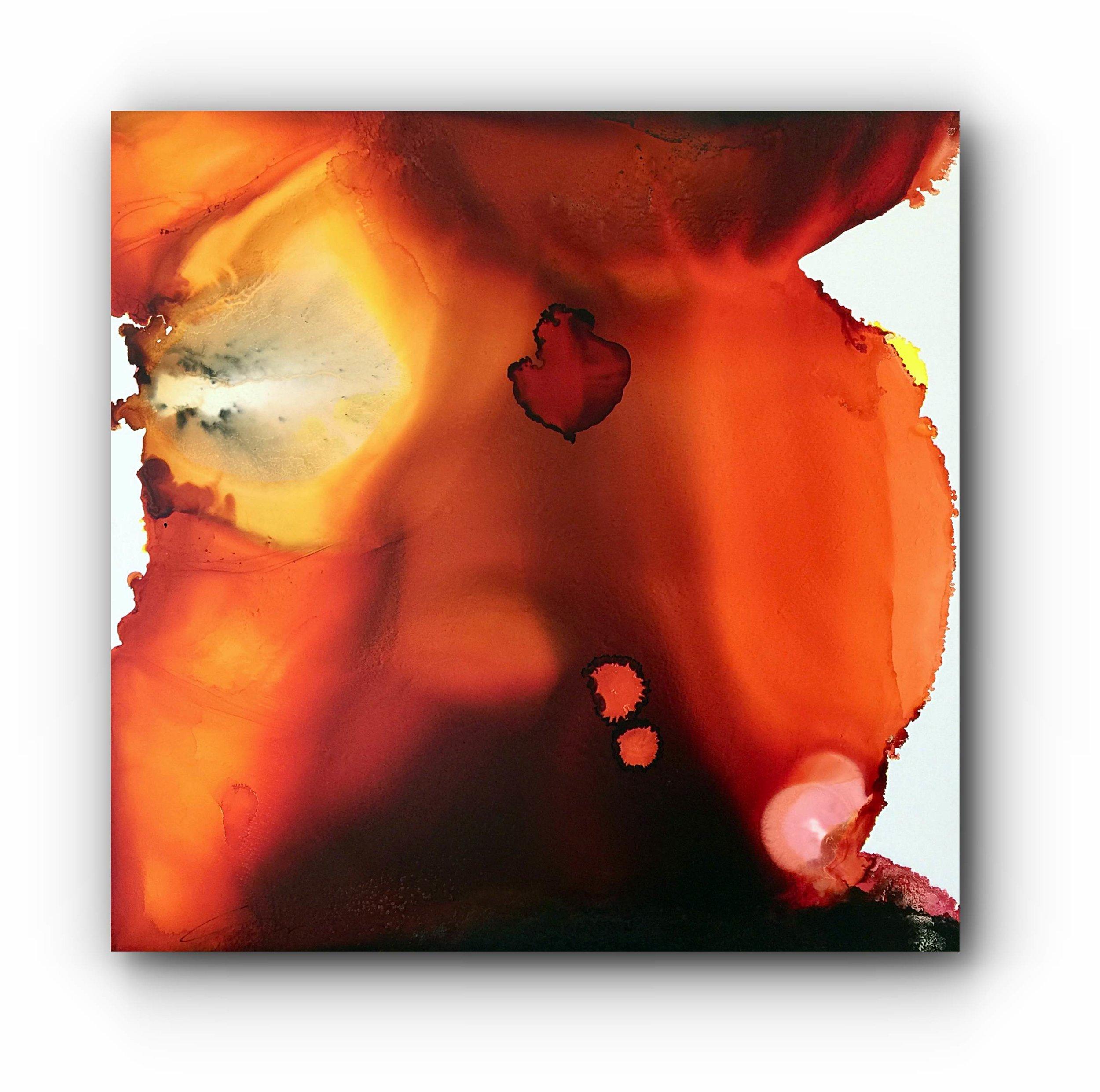 "#090317ia  ""Orange Nectar""  32x32"