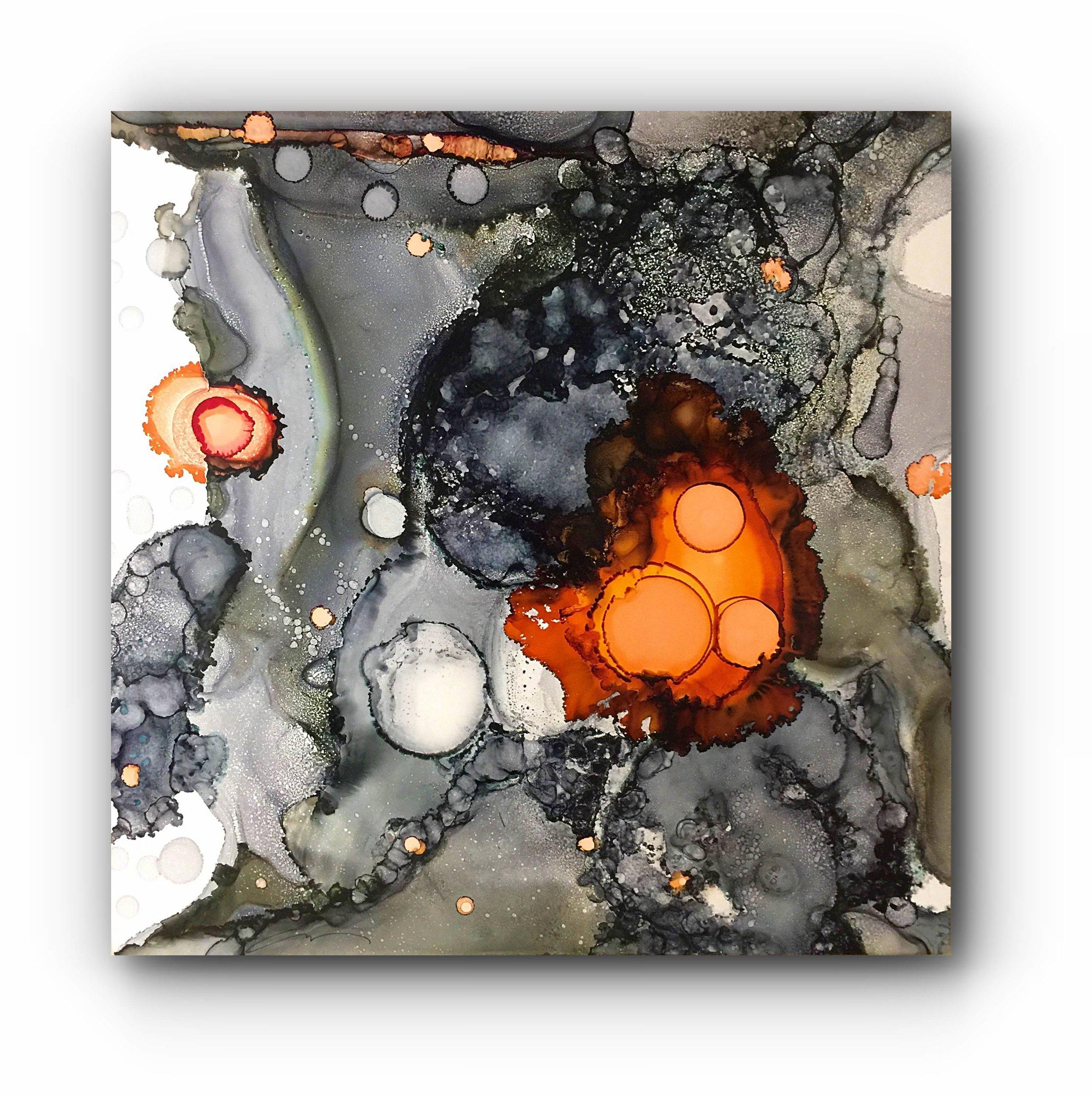 "#080816ia  ""Coral Gray""  48x48"