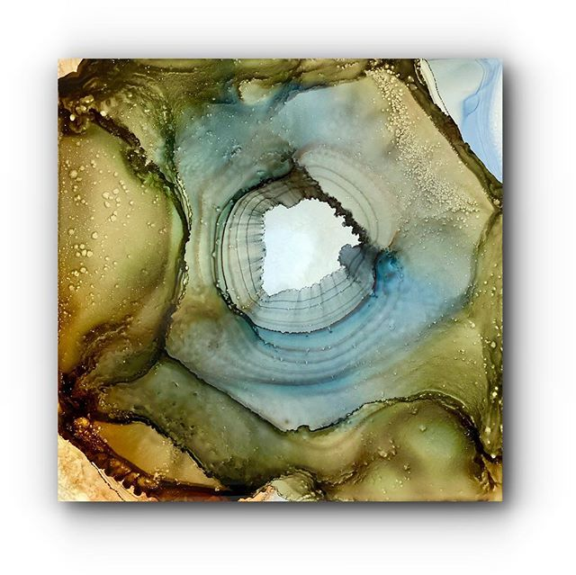 """""""GEODE"""" 24x24 Available tonight at REVEALED Gallery Charleston SC AT MY SOLO SHOW"""
