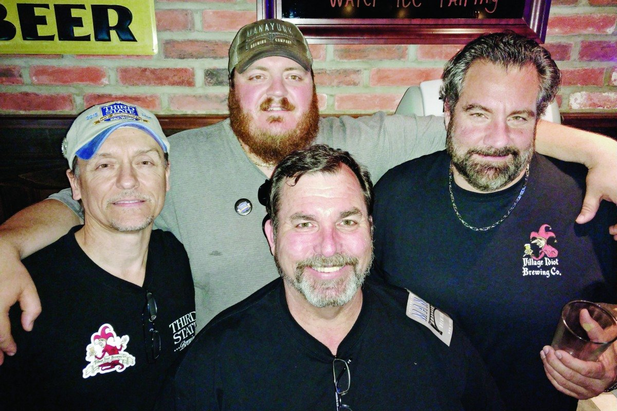 Barley Legal club launched brewers Jay Mahoney (front) and (from left) Bill Pozniak, Evan Fritz, Vince Masciandaro.