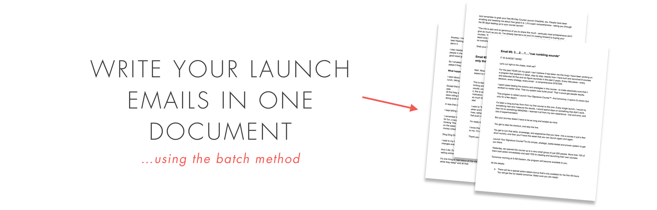 launch emails for your launch