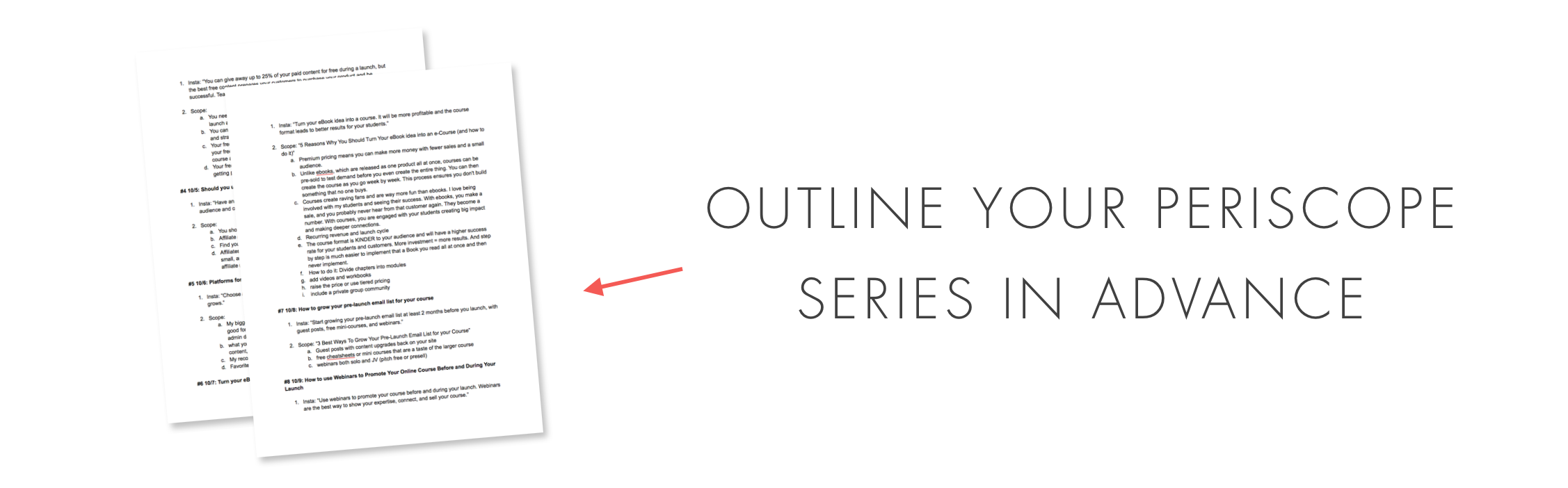 outline your series in advance.