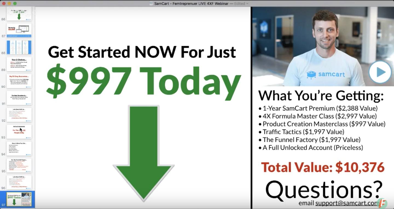 webinar slides that sell