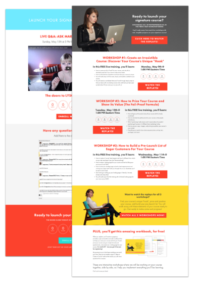 Webinar registration page templates