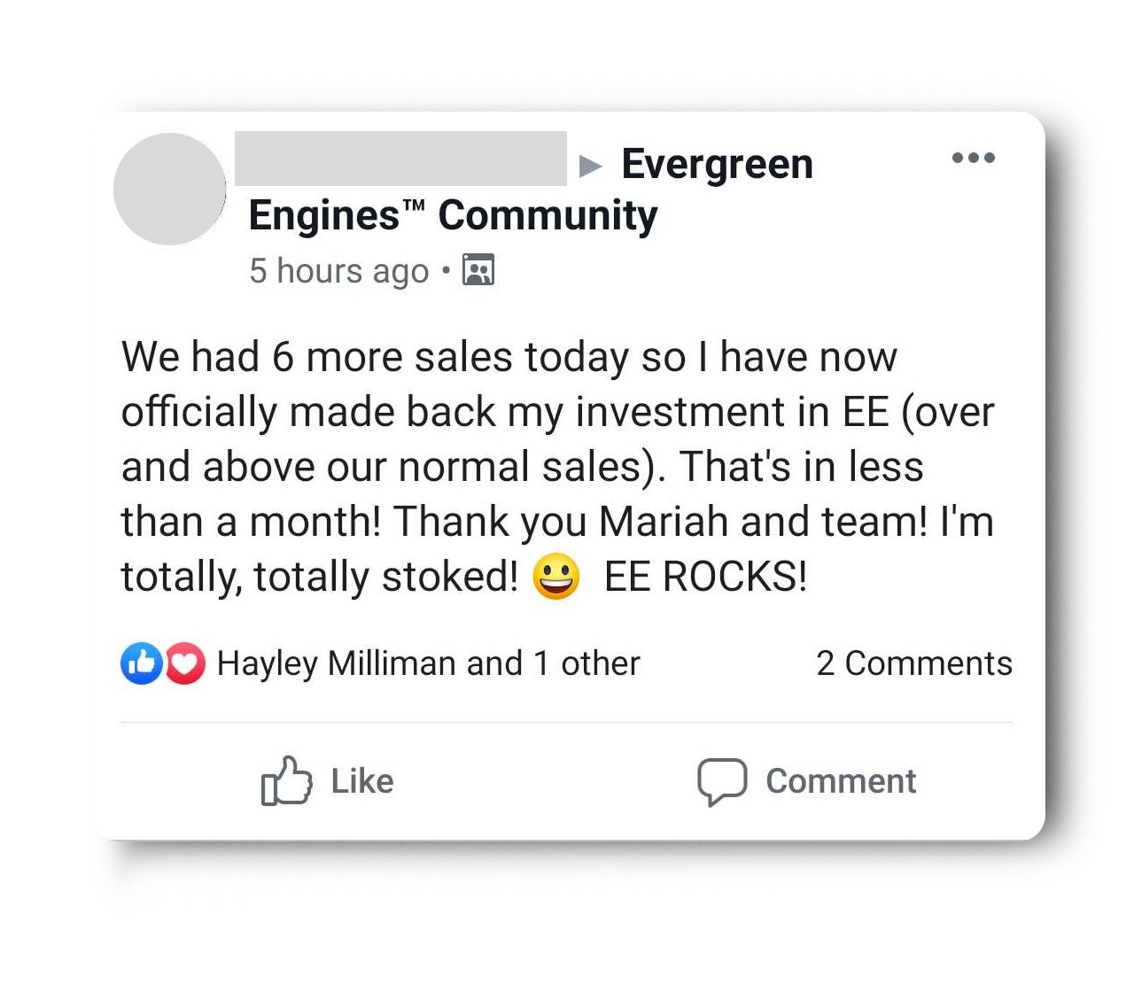 100% ROI with Evergreen Engines