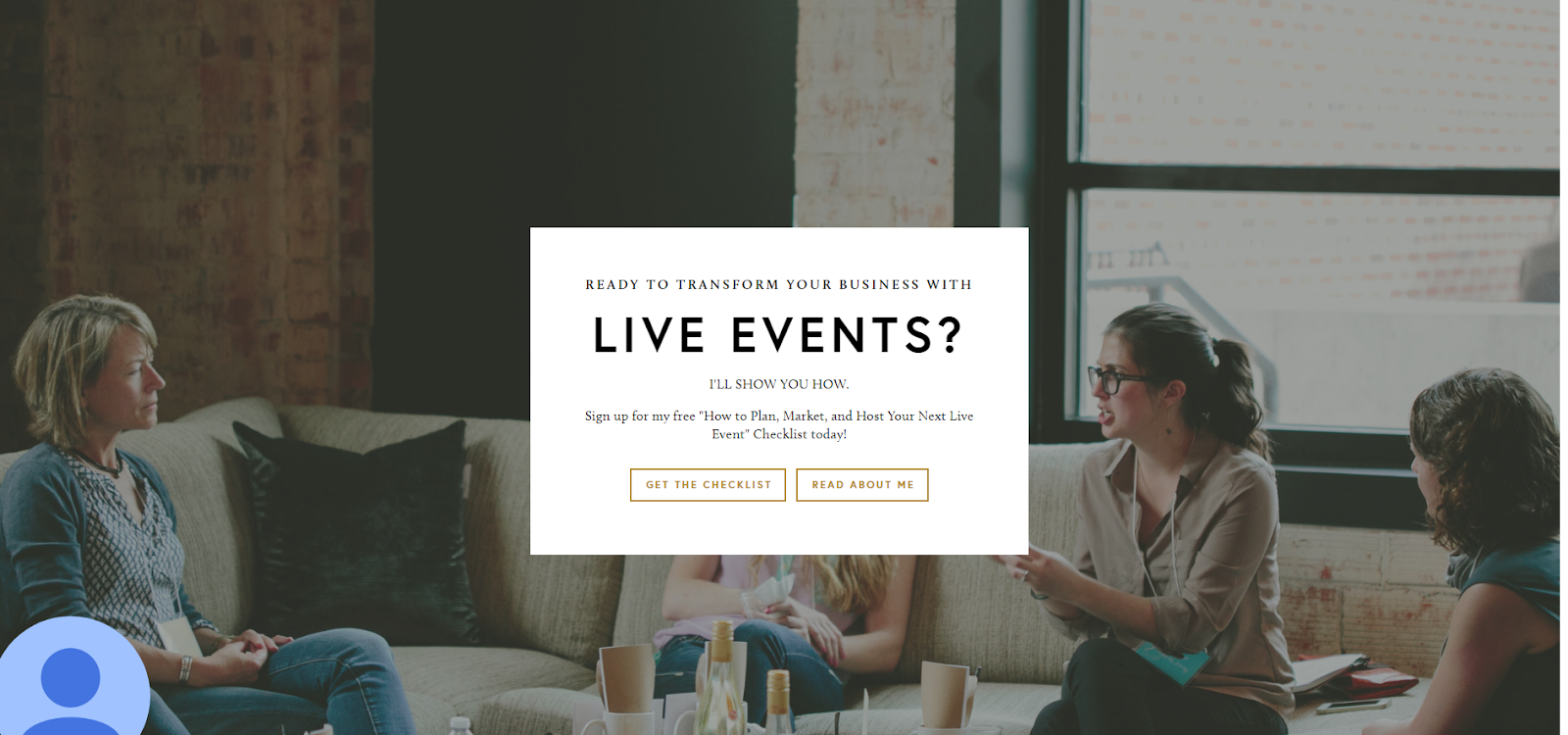 Live Events Online Course Topic