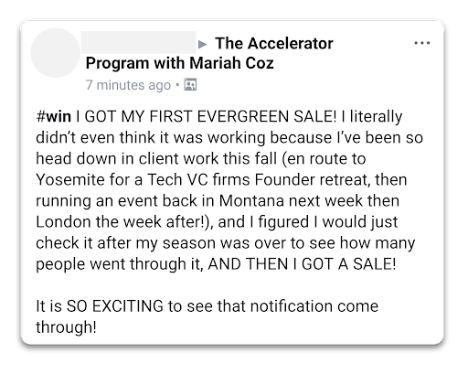 Accelerator with Mariah Coz Review