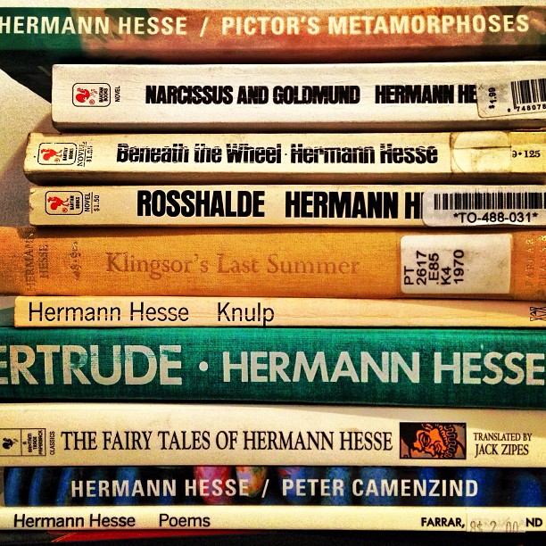 Hermann Hesse , one of my favorite authors.