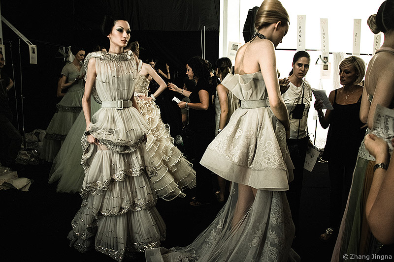Christian Dior Couture Fall 2008 Backstage