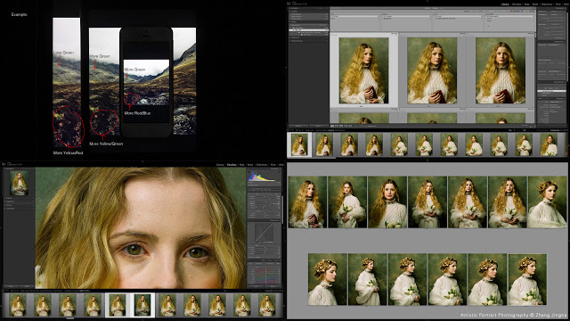 Beginning of the post-production process: editing and color processing in Lightroom
