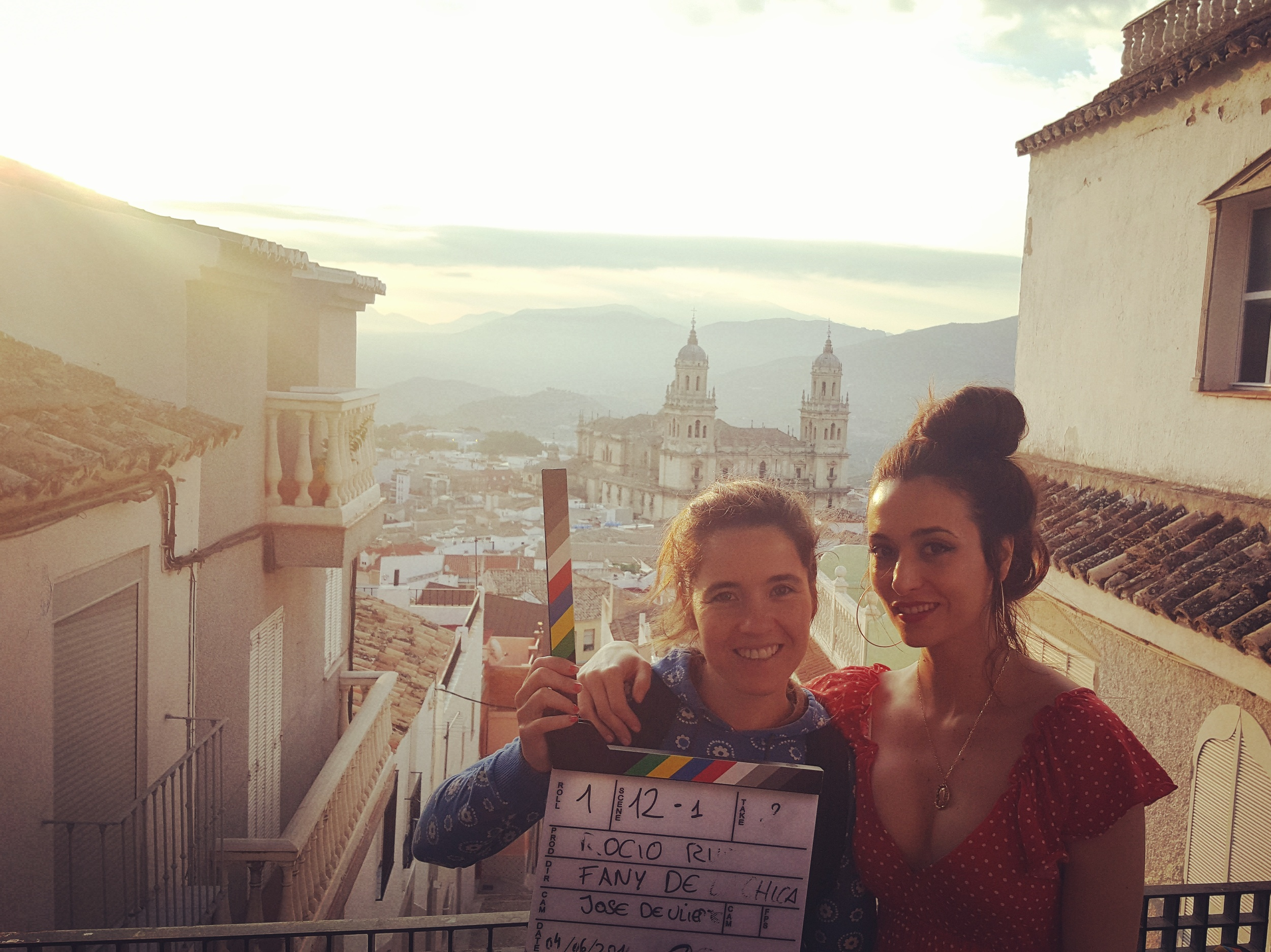 With director Fany de la Chica, in Jaén, Spain. First day of shooting   A La Deriva.