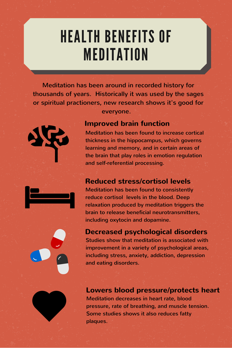 How meditation benefits your health.