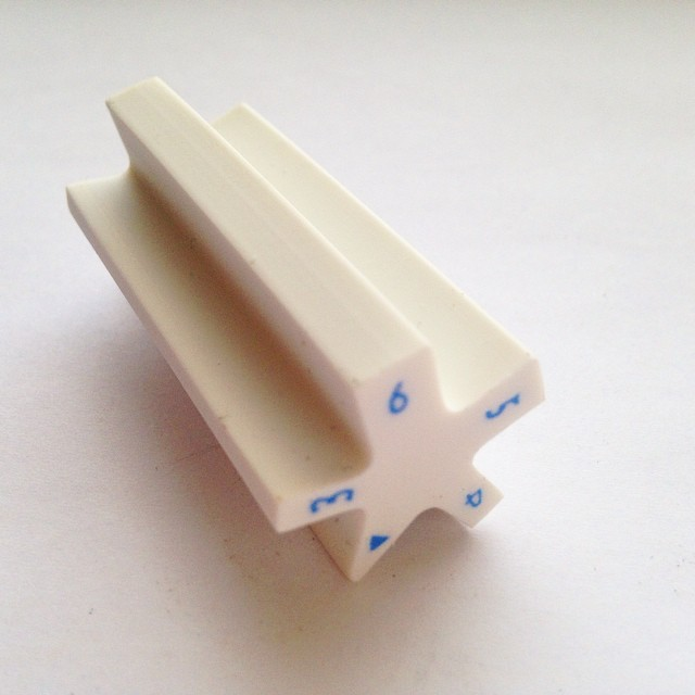 Five sided eraser, Japan. Always gives you a sharp eraser edge exactly the width you need.