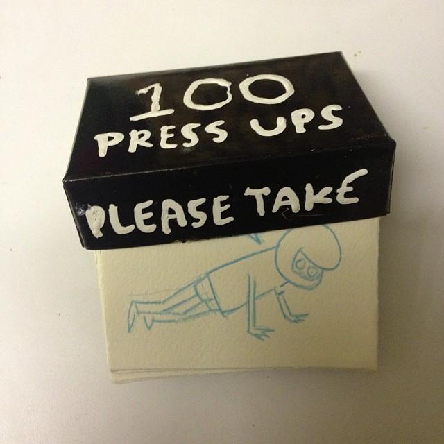100 Press ups