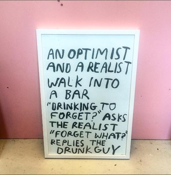 AN OPTIMIST AND A REALIST