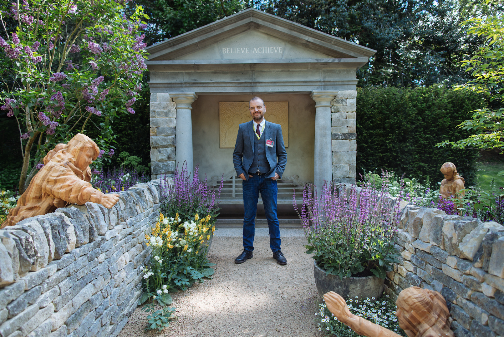 John on his people's choice award winning Meningitis Now Futures garden