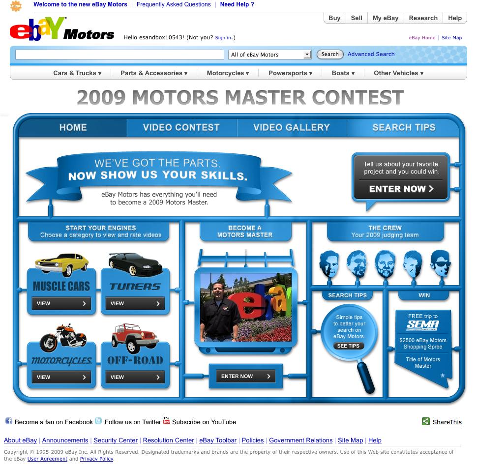Ebay Motors Video Website Social Dm Print Trade Show Steven Anacker
