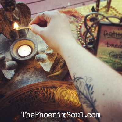 Shhhh. Peeking into solstice-celebration and Ceremony, in honor of our first issue as The Phoenix Soul next month.