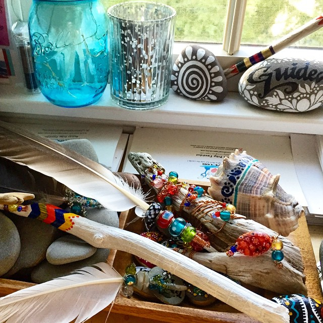 Spirit sticks and stones crafted by Sandi Pike Foundas