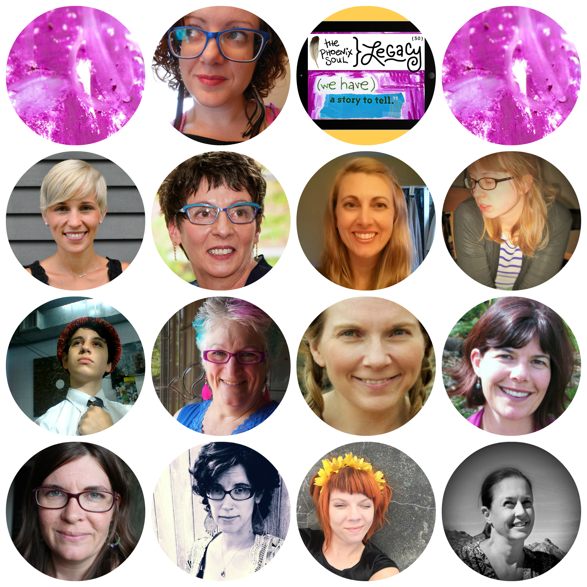1. Amanda Fall. 2. Noelle Juday, Janet Reed, Katherine McCormick, Hannah Marshall. 3. Daniel Blokh, Maureen Helms Blake, De Jackson, Julia Fehrenbacher. 4. suzanne l. vinson, Beth Morey, Carissa Paige, Laurie Blackwell.