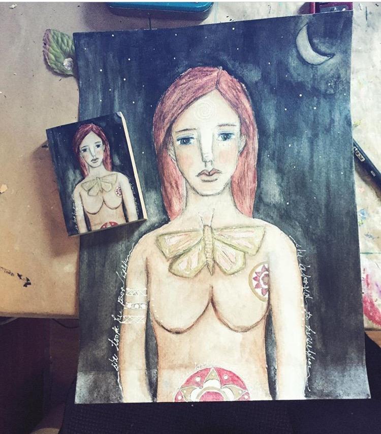 artwork and photograph by Jennifer Albin