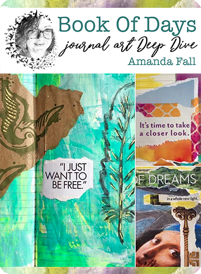 I'll be teaching intuitive magazine collage —one of my favorite ways to art journal! It's perfect for anyone with less time to create or less experience. Anyone can use my method and create art journal spreads that sing to your soul.