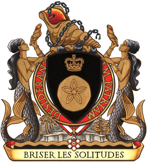 Coat of Arms of the Right Honourable Michaëlle Jean, Governor General of Canada.