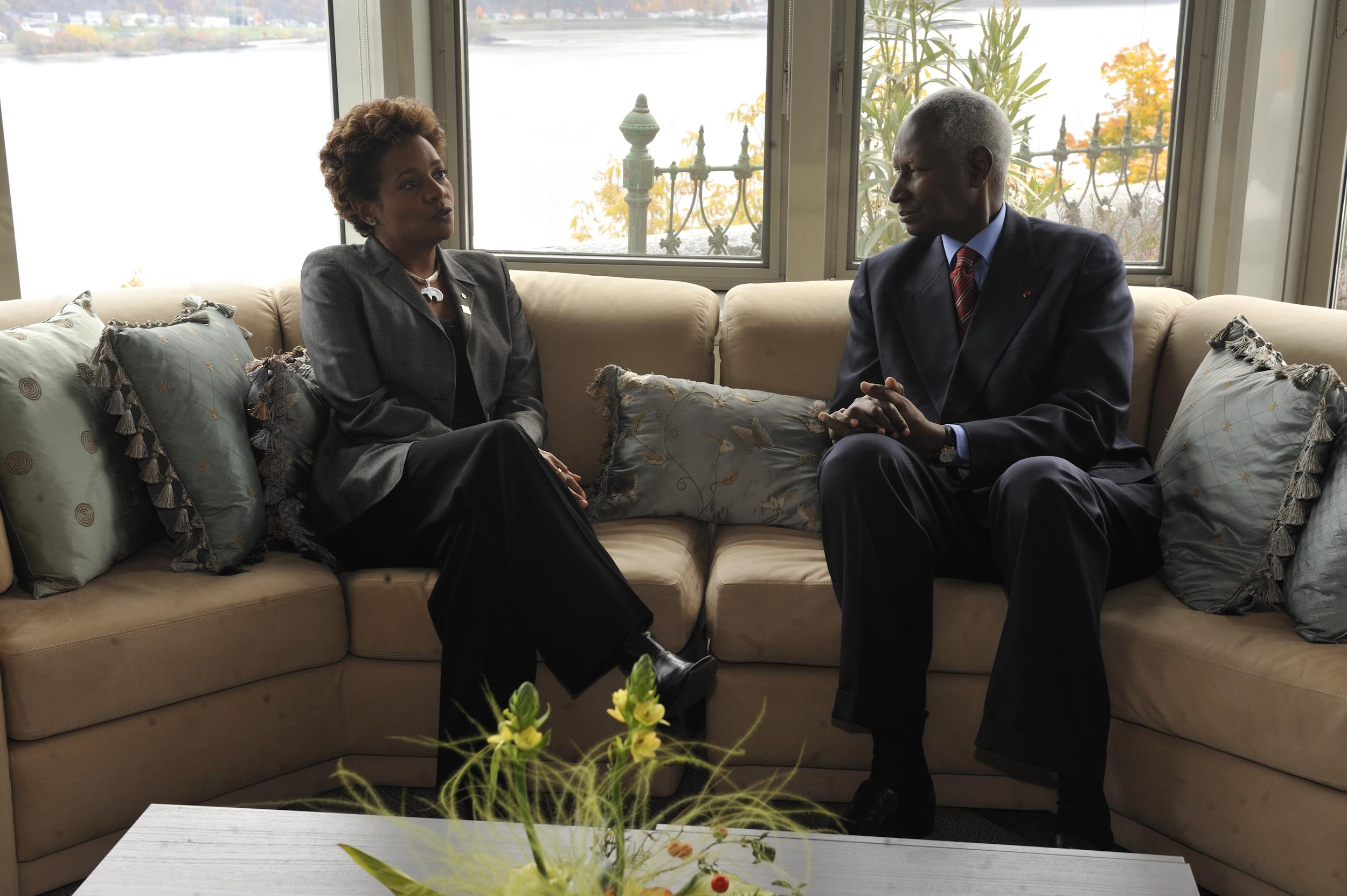 Citadelle, Sommet de la Francophonie, S.G. de la Francophonie, S.E. Abdou Diouf, Octobre 2008 (3).jpg