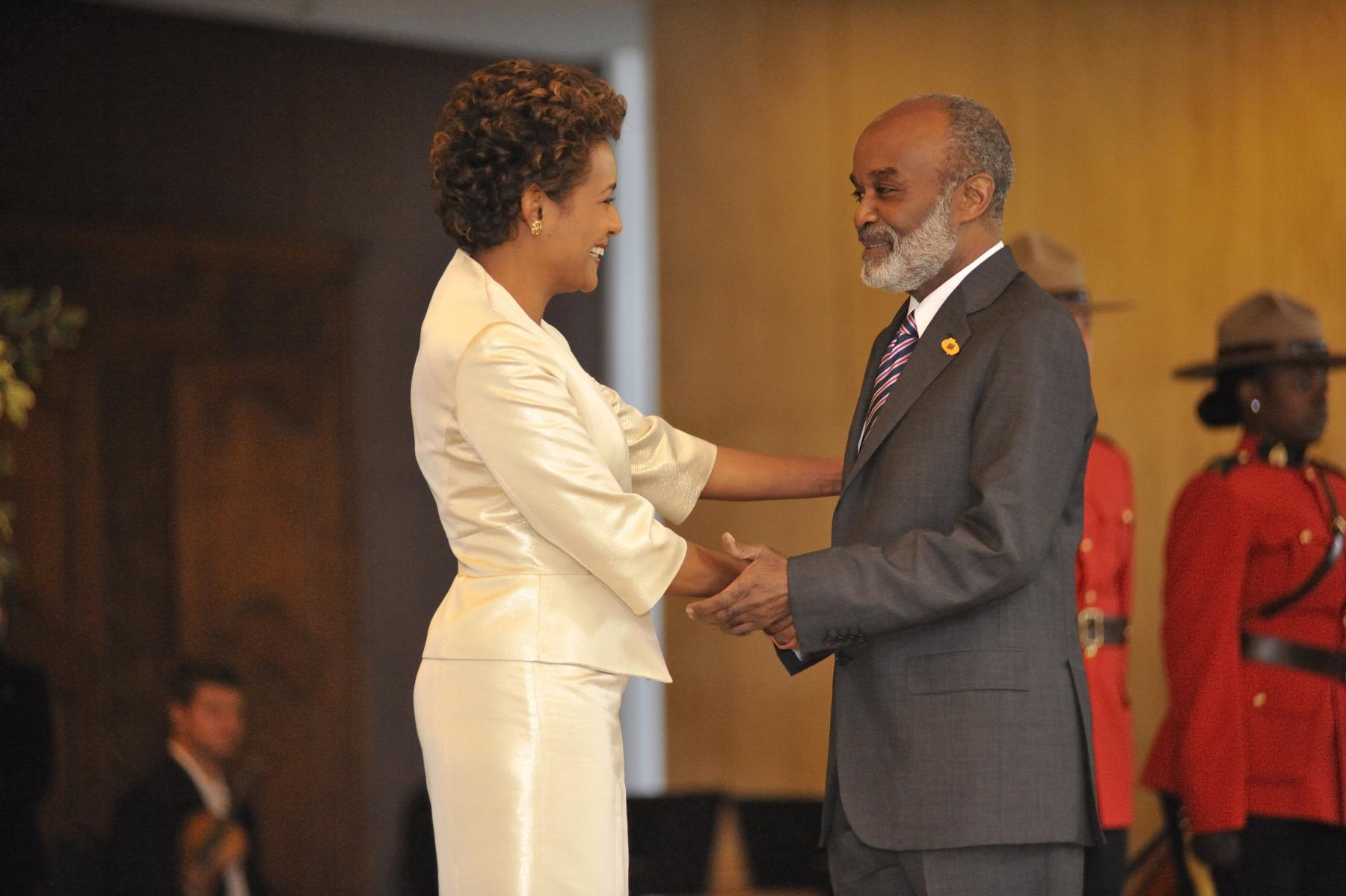 Citadelle, Sommet de la Francophonie, Président d'Haïti, S.E. René Préval, Octobre 2008 (7).JPG