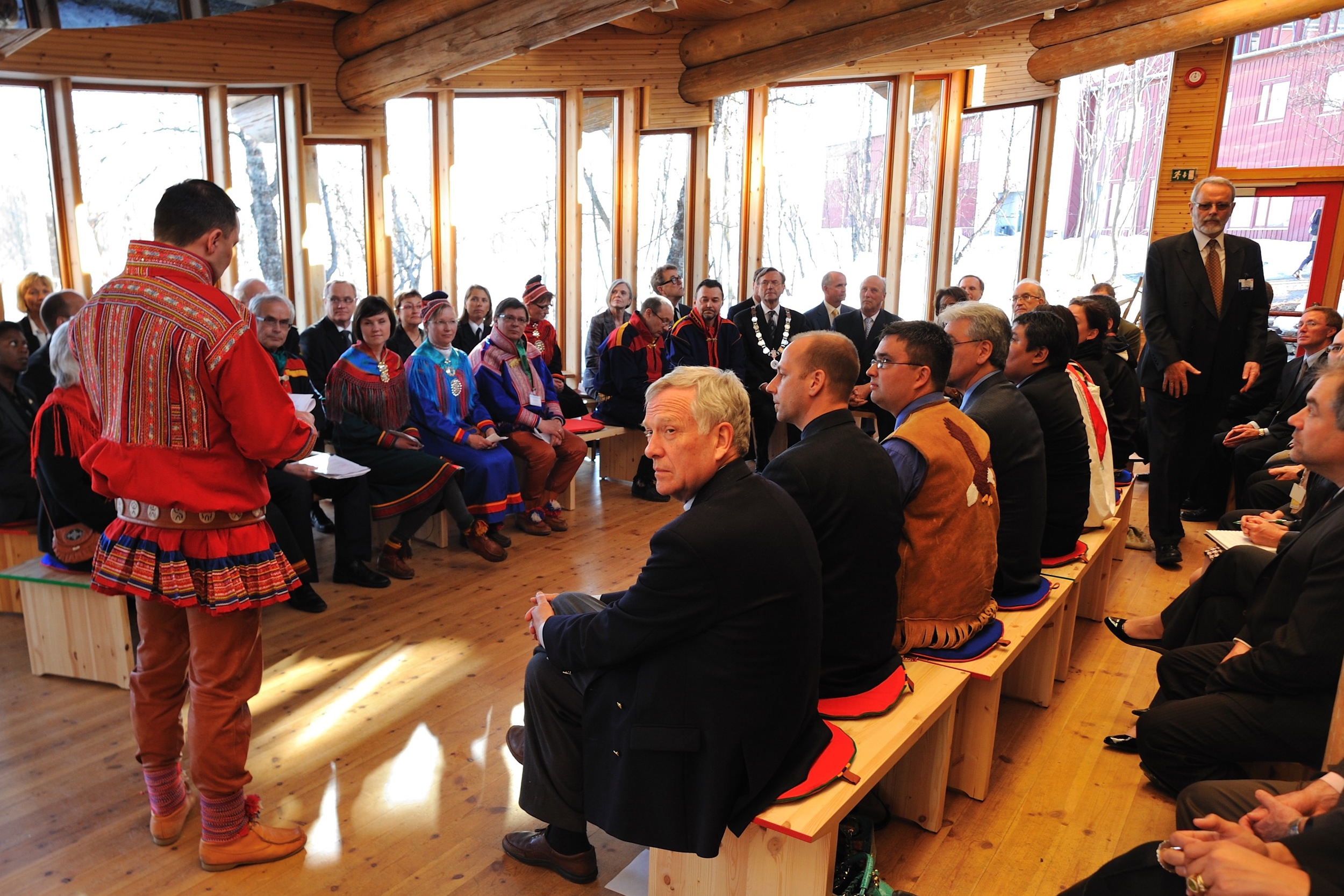 Le 30 avril 2009, à l'Université de Tromsø,discussion avec les autochtones  Sâmi  du Nord de la Norvège.