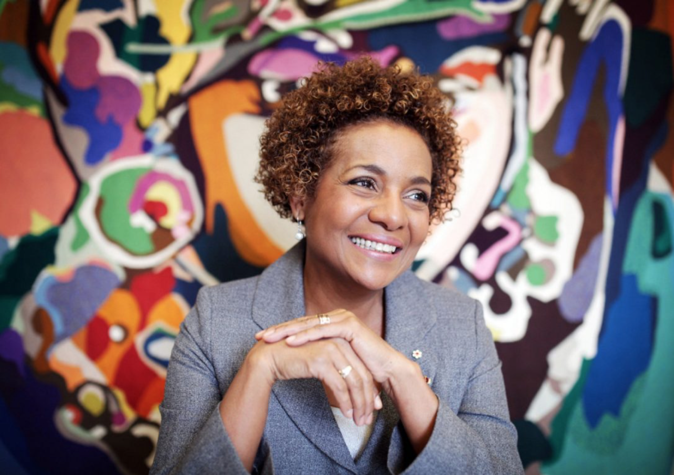 Former governor general Michaelle Jean, seen here in 2014, says Canada can serve as an example for Donald Trump. (COLE BURSTON / AFP/GETTY IMAGES)