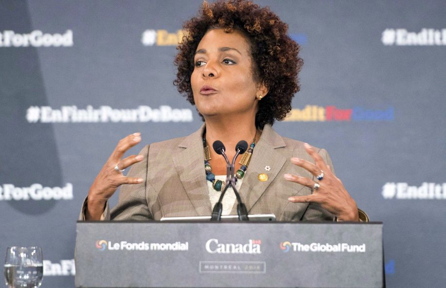 La secrétaire générale de l'Organisation internationale de la Francophonie, Michaëlle Jean Photo: Ryan Remiorz, La Presse canadienne