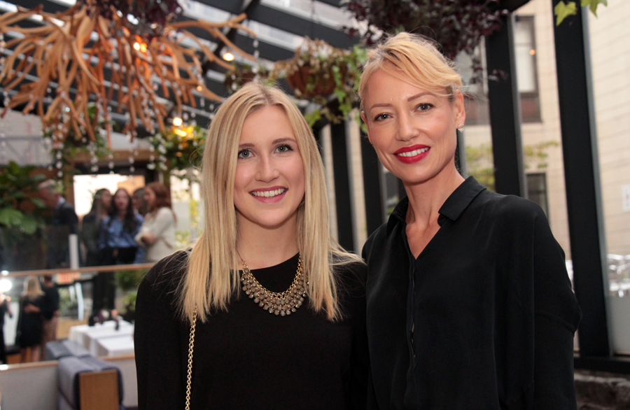 From left, ELLE Gala project manager Rosalie Lévesque-Giguère with female mentor Melissa Reeves, co-founder and COO of Ottawa-based Linebox Studio architecture firm, at Sidedoor Contemporary Kitchen & Bar in the ByWard Market. Photo by Caroline Phillips.