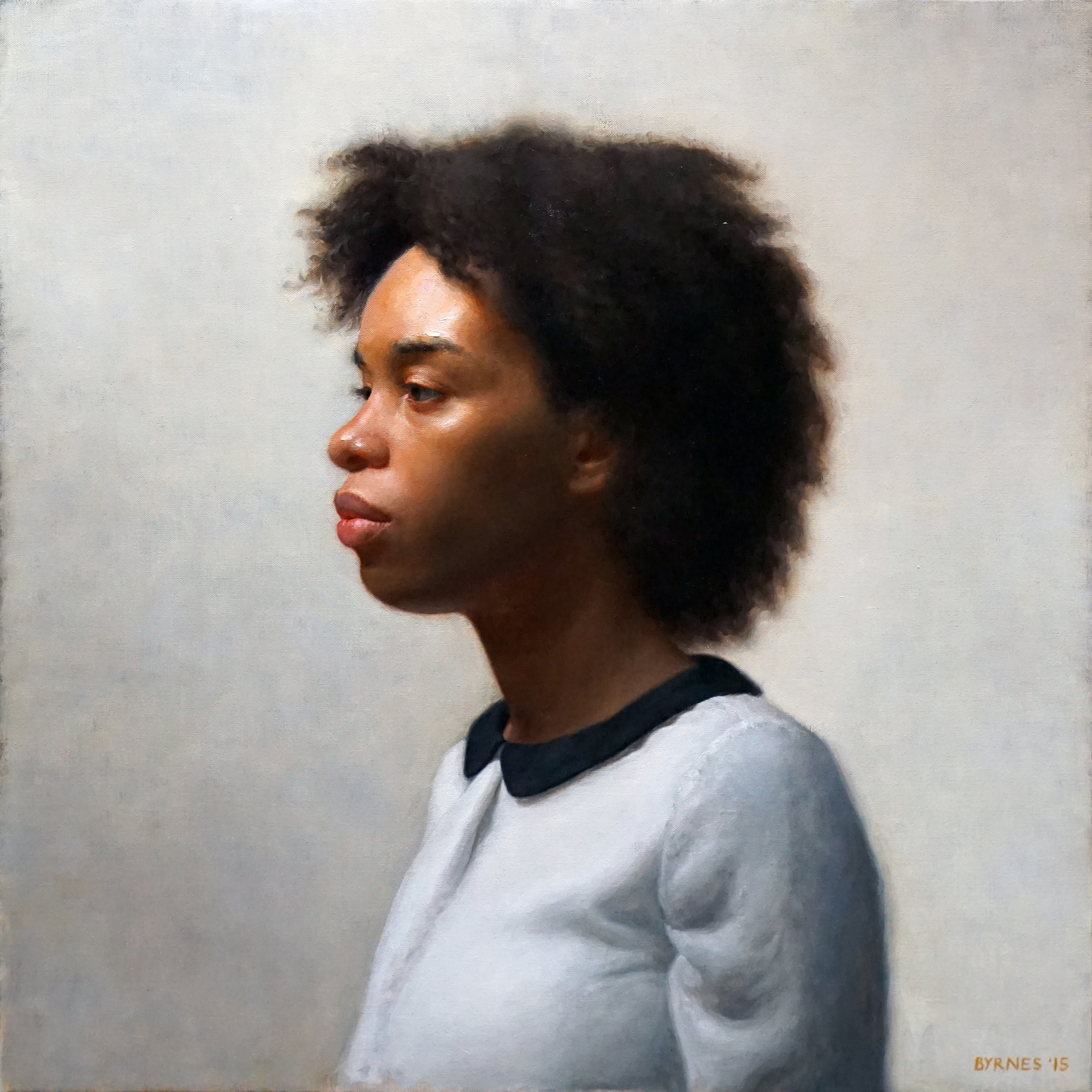 Keshia in profile, oil on canvas
