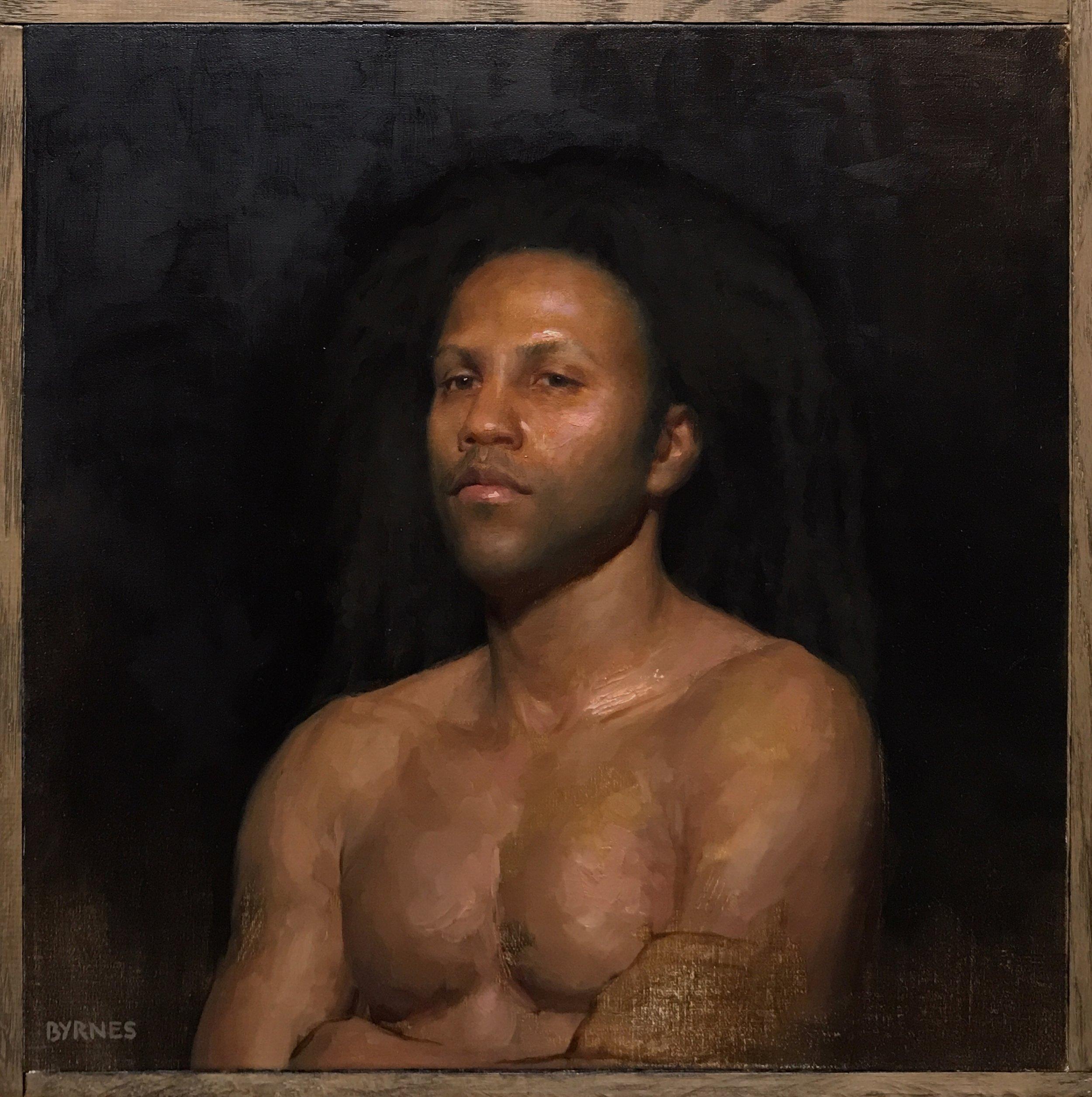 Jamaal XII,  oil on canvas on panel
