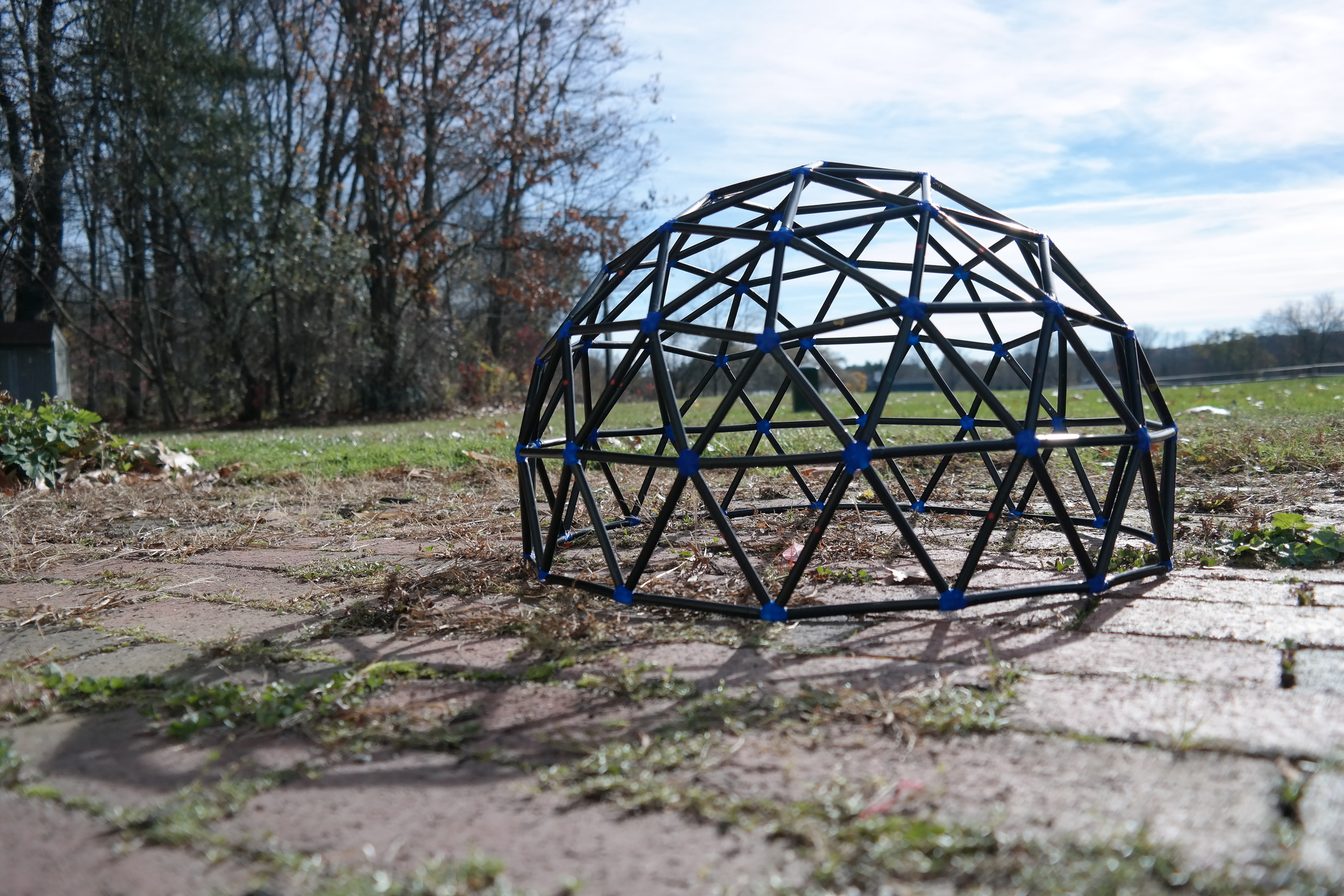 Finished 1.5' diameter dome!