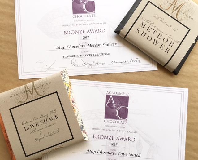 2017 Academy of Chocolate  2 Bronze awards